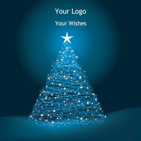 Μπλέ Χριστουγεννιάτικο Δέντρο Minimal