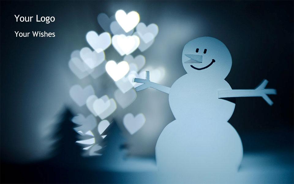 Χιονάνθρωπος και Καρδιές