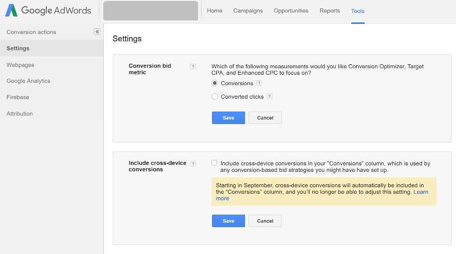 wedia-google-adwords-conversions-settings-converted-clicks
